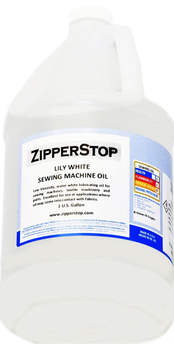 Sewing Machine Oil ~ Lily White ~ 1 U.S. Gallon U.P.S.I. iso-22
