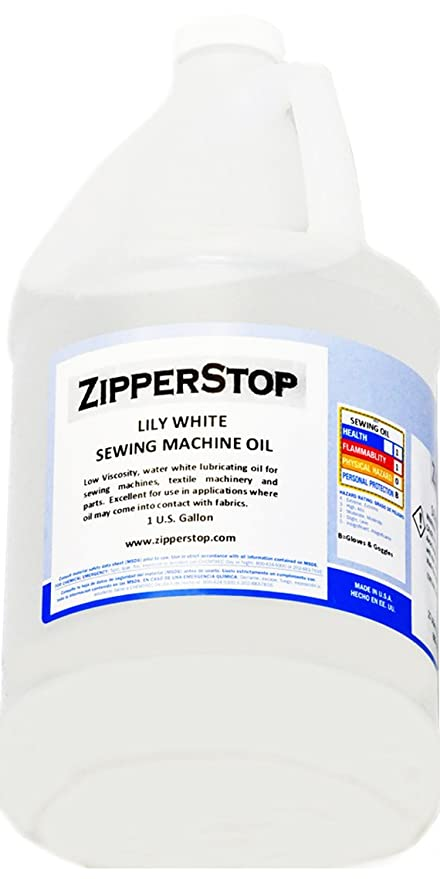 Amazon Sewing Machine Oil Lily White 40 US Gallon New Substitute For Sewing Machine Oil