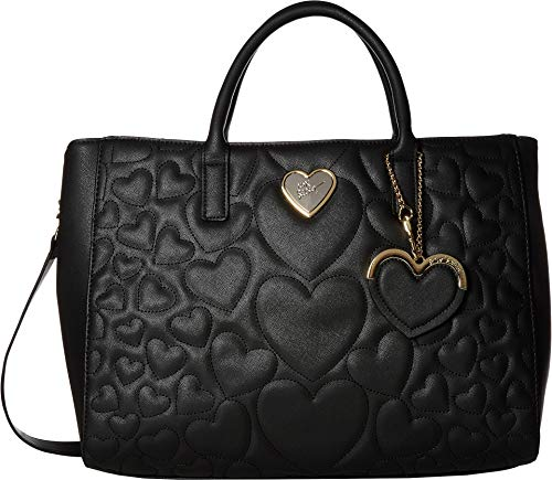 Betsey Johnson Women's Structured Quilt Satchel Black One Size by Betsey Johnson (Image #3)'