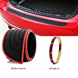 EverBrightt Trunk Rubber Protection Strip Car Rear Bumper Protector Cover with 3M Tape