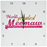 Cheap 3dRose dpp_151309_1 Worlds Greatest Meemaw Pink and Gold Text Gifts for Grandmothers Best Grandma Nickname Wall Clock, 10 by 10-Inch