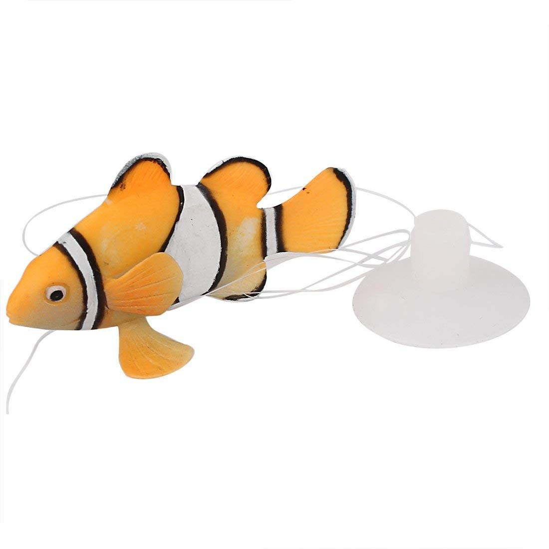 Ari_Mao Aquarium Floating Clown Fish for Fish Tank Decoration (Color : Green, Size : 6.3 * 4.1cm)
