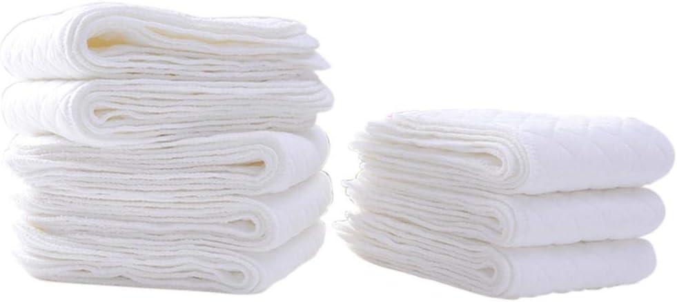 Wonderfulrita Pañales de algodón ecológico de Nueve Capas Pañales ...