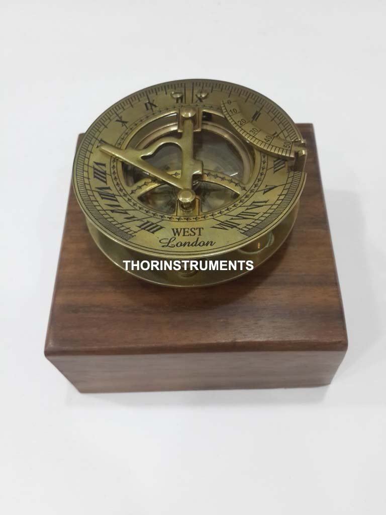THORINSTRUMENTS (with device) Solid Brass Nautical Astrolabe Working Sundial Compass Maritime Marine Home Decor