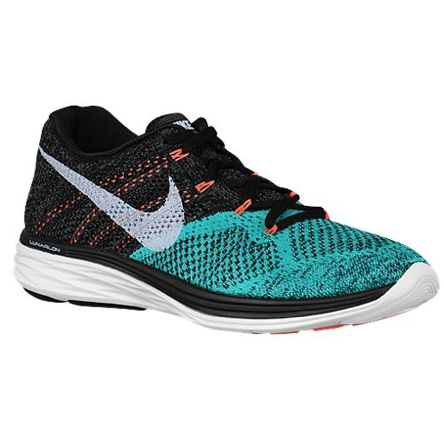 Nike Womens Flyknit Lunar3 BLACK/WHITE/LAVA GLOW 698182-008 10