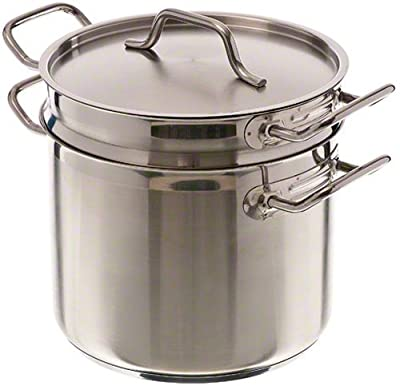 Update International (SDB-20) 20 Qt Induction Ready Stainless Steel Double Boiler w/Cover