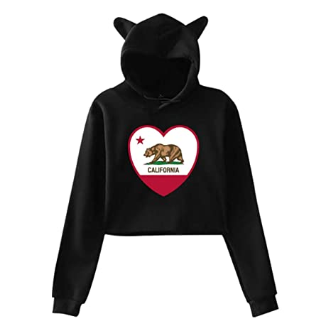 480f96bf Image Unavailable. Image not available for. Color: Hylionee6. California  Flag Heart,Hoodie ...