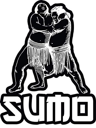 4 All Times Sumo Wrestling Automotive Car Decal Cars, Trucks, Laptops (9.3
