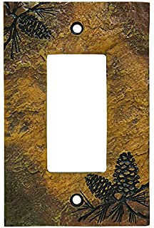 big sky carvers pinecone decorative switch plate - Decorative Switch Plates