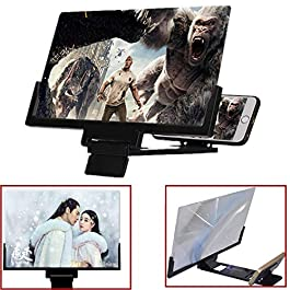 Junrbx Screen Magnifier 12 Inch 3D HD Mobile Video Magnifier Supports iPhone X / 8/8 Plus / 7/7 Plus / 6 / 6s / 6 Plus…