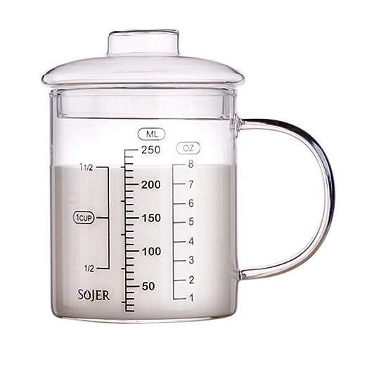 JSNRY taza medidora, taza de cristal resistente al calor, taza de ...