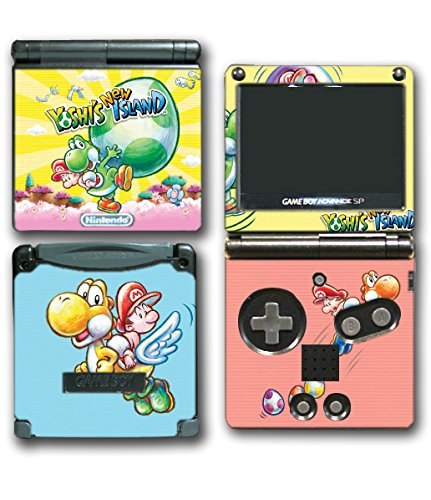 Yoshi's New Island Super Baby Mario Bros Video Game Vinyl Decal Skin Sticker Cover for Nintendo GBA SP Gameboy Advance System
