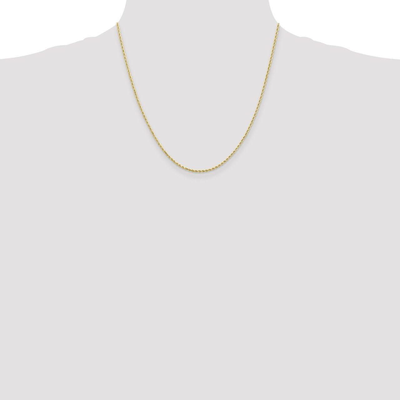 Lex /& Lu Leslies 10k Yellow Gold 1.75mm D//C Rope Chain Necklace or Bracelet