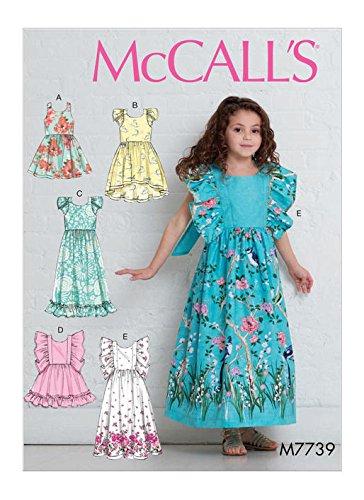 Amazon.com: McCall\'s Patterns M7739 Children\'s/Girls\' Dresses Sewing ...