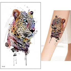 Handaxian 3pcsTattoo Caballo Etiqueta de león Lobo Zorro Tatuaje ...