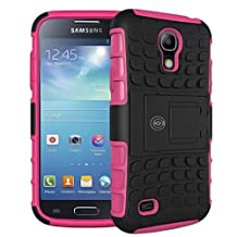 Galaxy s4 Case, Galaxy s4 Armor cases- Tough Armorbox Dual Layer Hybrid Hard/Soft Protective Case by Cable and Case - Pink Armor Case