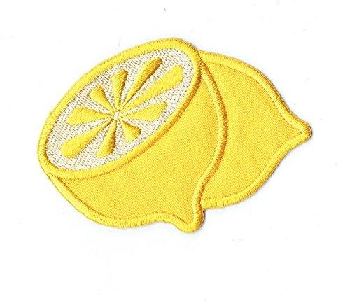 Yellow Lemon Citrus Fruit Iron on Embroidered Patch Applique