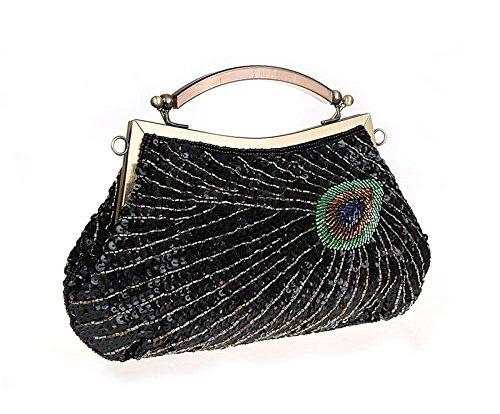for Green Mini Purse Fashion Clutch Bag Handbags Evening Sequins Wedding Beaded Women Small Bag TxpOdwp