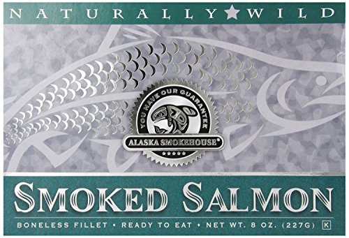 oked Salmon Fillet In Green, 8 Ounce Gift Box (Smoke Salmon Fillets)