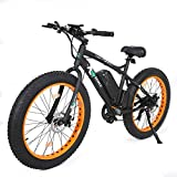 "26"" New Fat Tire Electric Bike Beach Snow Bicycle ebike 500W Black/Orange 2016 electric moped"