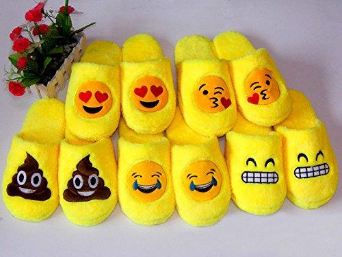 LLTrader Emoji Slippers For Girls Women Kids Men Warm Cozy Soft Stuffed Household Winter Shoes Poop kzioaMK