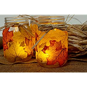Moon Boat 500PCS Fall Artificial Maple Leaves Decorations - Thanksgiving Autumn Leaf Wedding Party Table Decor 5
