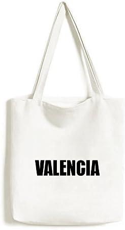 DIYthinker Valencia, España Nombre de la Ciudad ambientalmente Bolsa de Mano Bolso de Las Compras Craft Lavable: Amazon.es: Hogar