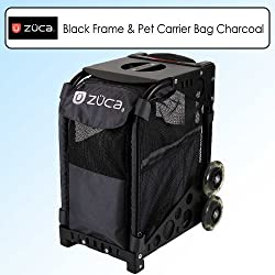 Zuca Sport Kit Black Frame & Zuzuca Pet Carrier Bag Charcoal