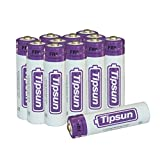 Tipsun AA Lithium Batteries 12 Pack, Longer Lasting Energy Double A Battery,1.5V AA Lithium Cells for Flashlight