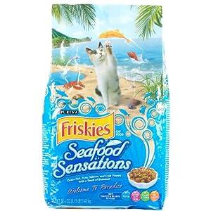 Friskies Dry Cat Food, Seafood Sensations, 50.4 Ounce Bag 106
