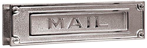 Chrome Mail Slot - Mail Slot, Brass, Horizontal, Chrome
