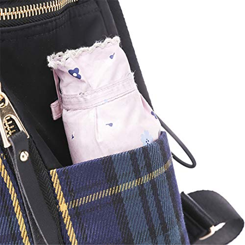 Amazon.com: Plaid Pattern Nylon Backpack Female Simple Large Capacity School Bag For Girls Waterproof Shoulder Bags Red 14 inches: Clothing