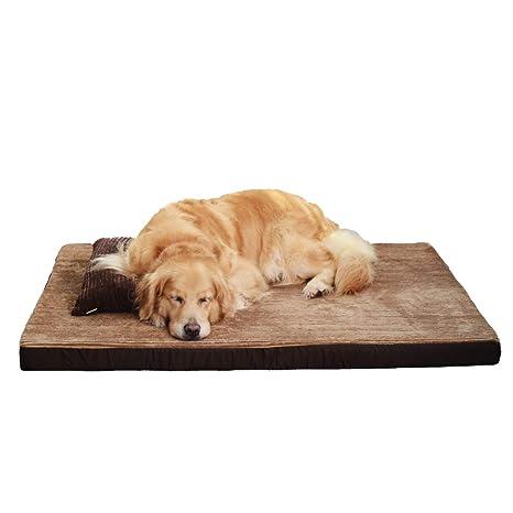 Cama para mascotas Cama de Esponja para Memoria con Almohada Camas para Perros y Gatos Colchón