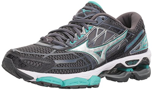 Mizuno Women's Wave Creation 19 Running Shoe, Magnet/Silver, 10 from Mizuno