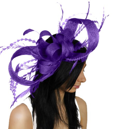 Large Brown Paper Packages and Feathers Ascot Fascinator ...