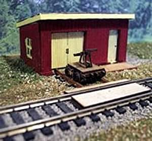 Osborn Models HO Scale MAINTENANCE SHED WITH HAND CAR New Kit #1108