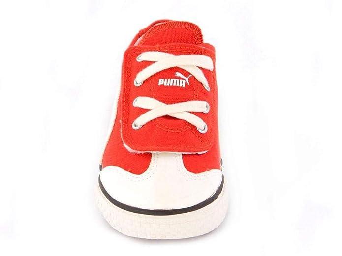Puma Baby Kinderschuhe 917 LO V rotes Segeltuch 23 EU
