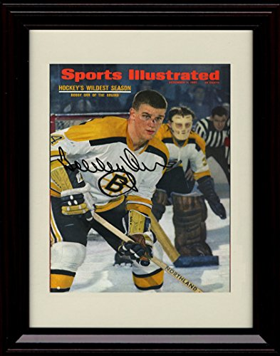 (Framed Bobby Orr Sports Illustrated Autograph Replica Print - Boston Bruins - 12/11/67)