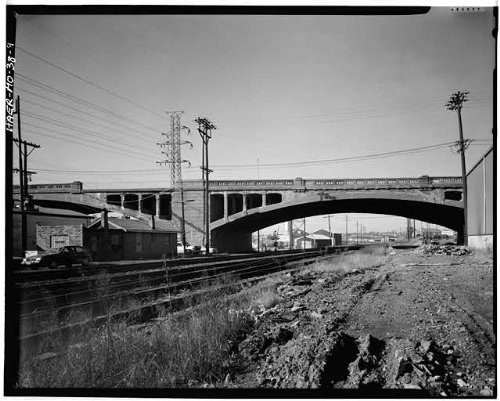 HistoricalFindings Photo: Kingshighway Viaduct,Railroad Tracks,Saint Louis,Missouri,MO,HABS,Survey,8