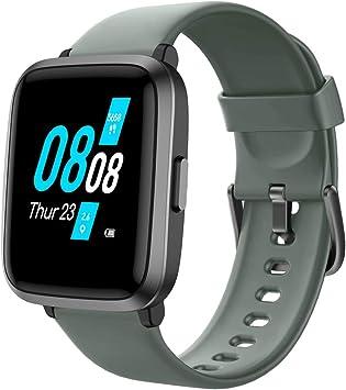 YAMAY Smartwatch con Oxímetro de Pulso Esfigmomanómetro y Pulsómetro Reloj Inteligente Impermeable para Hombre Mujer, Pulsera de Actividad Inteligente podómetro con Cronómetro para Android iOS: Amazon.es: Deportes y aire libre