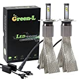 Green-L (Pack of 2) LED Headlight bulbs H4 HL HB2 9003 4th Gen 90W 11700lm CREE XHP-50 6000k White Plug & Play Conversion Kit