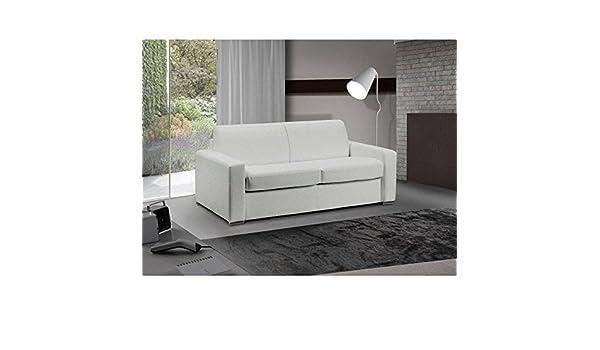 ITALIAN SPIRIT Sofá Cama 3 plazas Master Convertible Apertura Rapido 140 cm Piel Eco Blanco Incluye colchón 18 cm: Amazon.es: Hogar