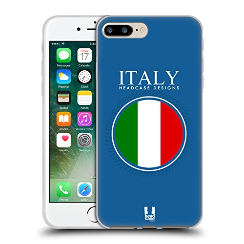 Head Case Designs Italian Flag Flag Patches Set 2 Soft Gel Case For Apple Iphone 7 Plus   8 Plus