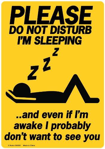 PLEASE Do Not Disturb I'm Sleeping Funny Novelty Tin ()