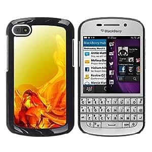 TopCaseStore / la caja del caucho duro de la cubierta de protección de la piel - Liquid Fluid Orange Gold Bright - BlackBerry Q10
