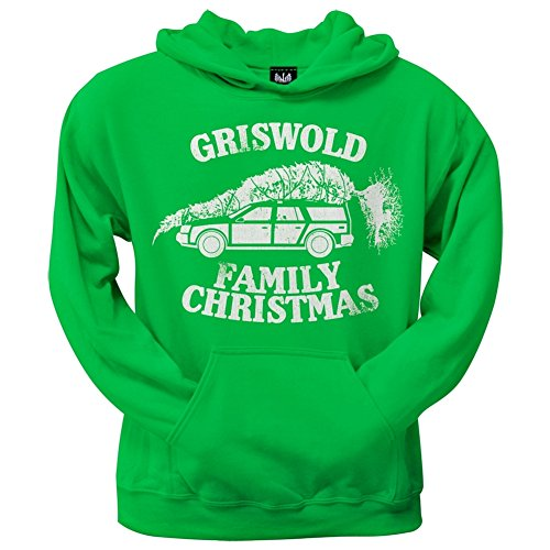 Christmas Vacation - Griswold Family Christmas Green Pullover Hoodie (Griswold Merchandise compare prices)