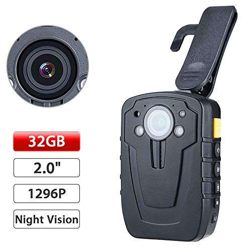 SONADY Body Camera - Ambarella A7 32GB HD1080P Mini Worn Police Camare Lapel Video Recorder DVR IR Night -
