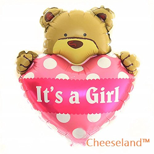 - Cheeseland-16''Its a girl mylar bear balloon, for baby shower,birthday parties,etc.