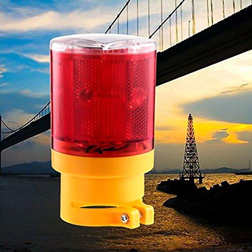 Zehui Flicker Beacon Road Barricade Construction Sign Lamp Solar Powered LED Traffic Strobe Warning Lights Red by Zehui (Image #4)