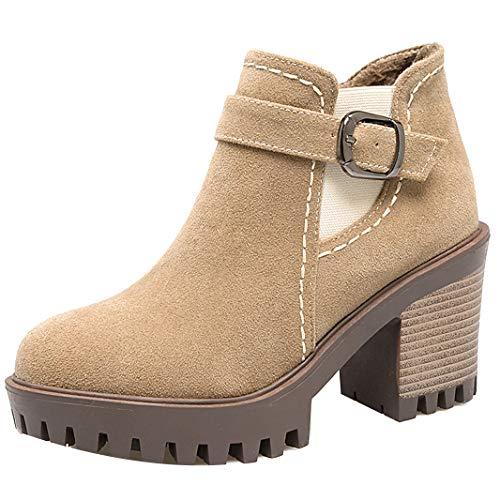 Mavirs Womens Maocea Block Heel Boots Ankle-high 8 cm Boots Heel B07GLYK65V Shoes 18de22
